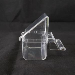 CP2-Comedero exterior transparente con tapa y posadero