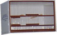JBFM3-Jaulón de cría de 54cm. con base de cartón, frente de madera y bandeja de aluminio