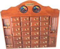 MHA28 - Mueble de madera artesanal con 28 cajones y accesorios