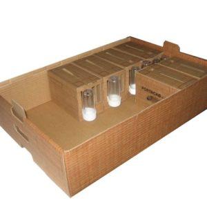 Bandeja de cartón para transportar 12 Portacab