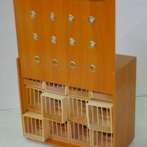 Transportín de 12 huecos individuales en madera