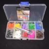 Caja 500 anillas abiertas 10 COLORES con aplicador para identificación genética
