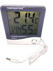 HTC2-Doble medida Termometro/Higrometro con sonda y reloj