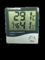 Termómetro e Higrómetro digital con reloj
