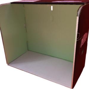 BJCEV-Base de cartón para bandeja de jaulas de Concurso modelo