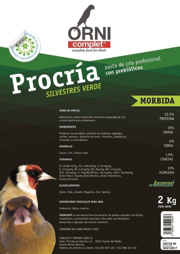 PASTA PROCRIA SILVESTRE VERDE MORBIDA 2 KG