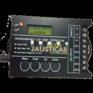 PA522-PROGRAMADOR AMANECER-ANOCHECER PARA TIRAS LEDS 12 voltios JAUSTICAB