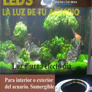 KIT DE TIRAS LEDS PARA ACUARIO LUZ DIA. SUMERGIBLE IP-67