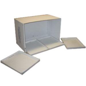Base y bandejas de carton para jaulones de cria J1 -J2 y JBFM3