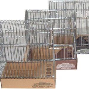 JPC-Jaula de Cúpula para pájaros de Postura cromada