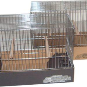 JPG-Jaula para pájaros de postura cromada modelo grande