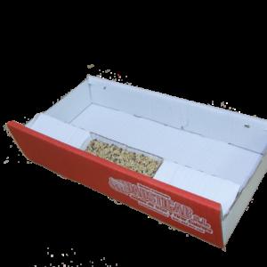B2-Bandeja de cartón con comedero frontal para bases BJCS - BJCE - BJCEP