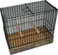 JPPN-Jaula para pájaros de postura pequeña en negra y montaje rápido