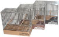 JPP-Jaula para pájaros de postura cromada modelo pequeña