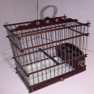 Jaula de madera artesanal rectangular para silvestres
