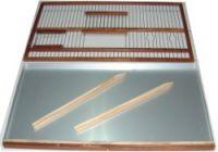 BFM3-Conjunto de Frente de Madera y bandeja de aluminio de 54 cm, con 2 posaderos