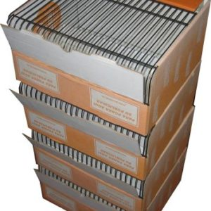 Transportín y expositor para pájaros apilables con base de cartón
