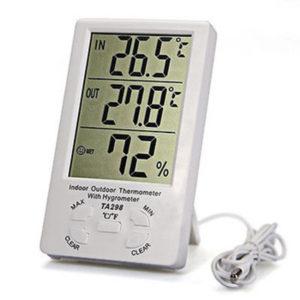 TA298 - Termómetro/Higrómetro digital con sonda y reloj.