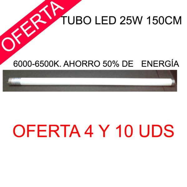 Tubo led 25w 150cm. 6000K