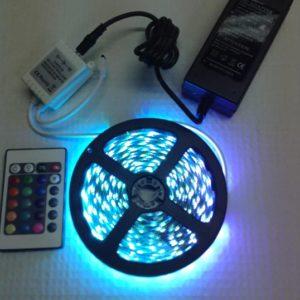 SET TIRA LEDS 12 V. RGB (TODOS LOS COLORES) DE 1 A 5 METROS CON CONTROLADOR Y ADAPTADOR 12V