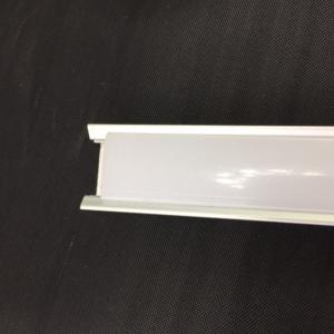 Canaleta de aluminio de 1 metro para tiras led de 12 voltios. Con difusor