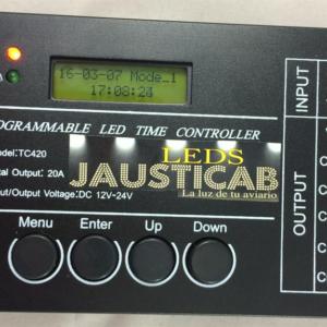 PROGRAMADOR AMANECER-ANOCHECER PARA TIRAS LEDS 12 voltios
