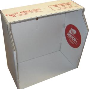 BJCS-Base de cartón sin bandeja para jaulas de Concurso.