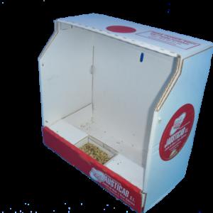 BJCT-Base de cartón Total con comedero interior frontal o lateral