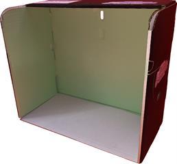 BJCEV-Base de cartón para bandeja de jaulas de Concurso modelo Europeo fondo verde