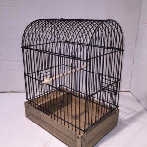 JPCC-Jaula de Cúpula plegable para pájaros de Postura. Negra