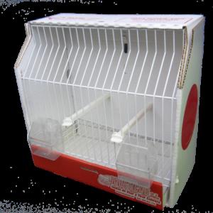 JCB4-Jaula de Concurso de bandeja extraible y comederos exteriores