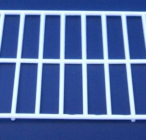 R6-Rejilla de plastico desechable blanca para comedero interior frontal