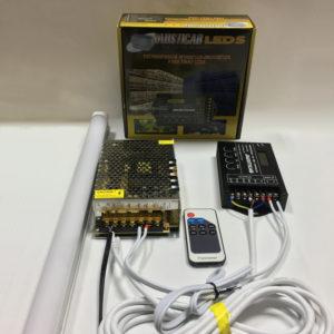 CRP530-Conjunto Programador PA530 Regleta led 120cm. con luz efecto luna con mando a distancia y Adaptador 12V. para iluminación de su aviario. OFERTA 2-3-Y 4 REGLETAS.