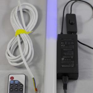 SRP530-Set regleta LED 120 cm con mando a distancia + Adaptador de corriente 12v para conectar a programador Amanecer-Anochecer PA530 con efecto luna para la noche.OFERTA 2-3 Y 4 UDS.
